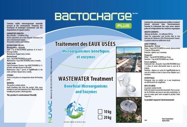 BactoChargePlus. Traitement des eaux usées.