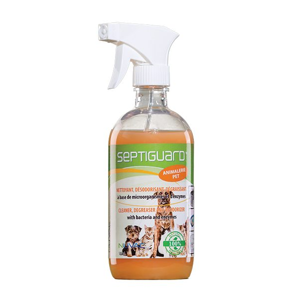Organic cleaning product for cage, vivarium, litter and carpets