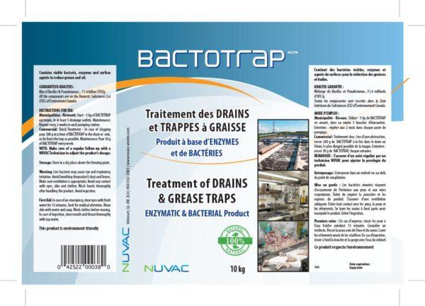 Bactotrap - Traitement des drains et les trappes à graisse Biologique